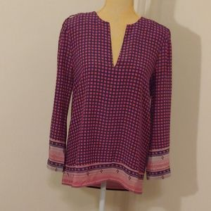 Joie 100% sill print blouse